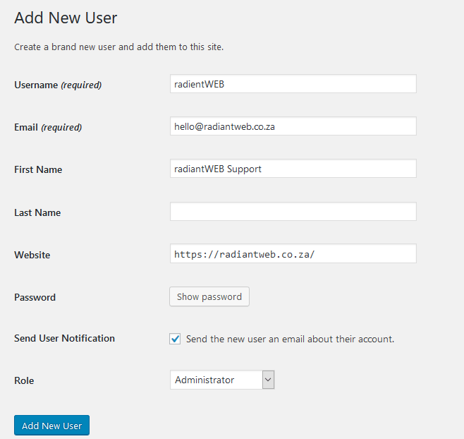 Adding an Admin User for our service 2
